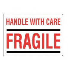 Waarschuwingsetiket Handle with care / Fragile