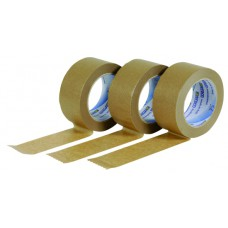 Plakband paper Solvent 50mmx66mtr, bruin